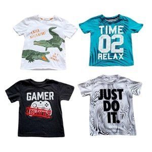 Lot 1 of Boys Short Sleeve Graphic T-Shirts Size 4